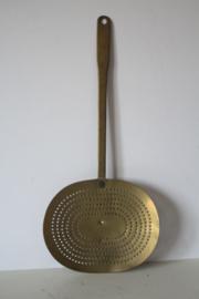 19e eeuwse messing schuimspaan - groot model