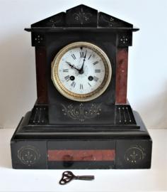 Antieke Franse Marmeren Pendule klok - H&F Paris