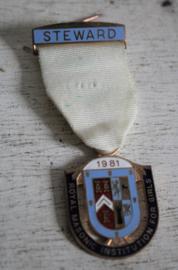Medaille Vrijmetselaars - Steward R M I G 1981