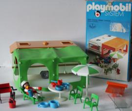 Playmobil Caravan met Voortent uit ca 1977 - 3249