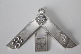 Vrijmetselaars regalia zilver, Vereningd Koninkrijk - Past Worship Master Jewel - begin 20e eeuw