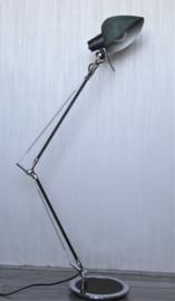 Industriële vloer lamp  - Chroom met Donkergroen