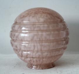 Art Deco glazen bol van hanglamp - Roze