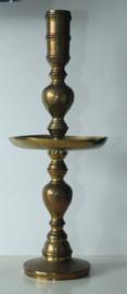 Grote schijf of kraag kandelaar - 19e eeuw - België