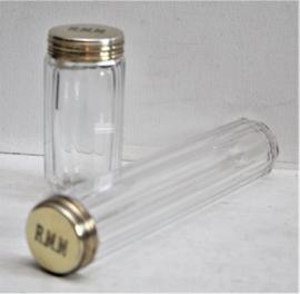 Antieke parfumflessen Asprey & Co 1931, zilver vergulde doppen