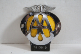 Automobilia:  Embleem / Car Badge Verenigd Koninkrijk - AA - 1960-1970
