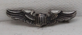 WWII US Air Force zilveren piloten pin (army wings)
