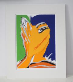 """Sylvia Kristel - Zeefdruk """"knipoog""""  # 45/200"""