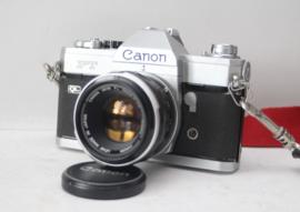 Canon FT QL met canon lens FL 50mm 1:1.8