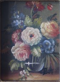 Rene Tempur - Schilderijtje van een vaas met bloemen
