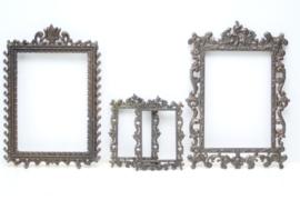 4 barokke bronzen (foto)lijsten Deposé Italy