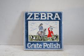 Vintage reclame tegel - Zebra Grate Polish