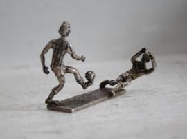 Zilveren miniatuur - Van Kempen Begeer - Voetballers