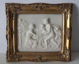 Albast plaque van de Griekse God Hermes