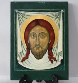 Modern Icoon, Jezus Christus - Hout