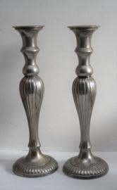 Kandelaars - Victoriaanse stijl - Verzilverd
