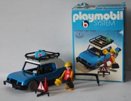 Playmobil blauwe auto 1980 - nr 3210