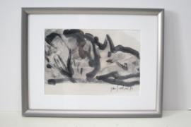 Jan Sierhuis - Werk in aquarel  - 1983
