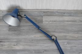 Pileprodukter Lund Type A-111 bureaulamp in blauw - Zweden jaren '70