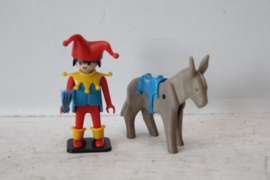 Playmobil 3330 - Nar met Ezel 1979 (versie 2)