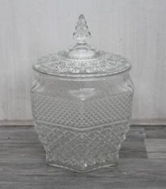 Grote glazen koektrommel - Victoriaanste stijl - Glas