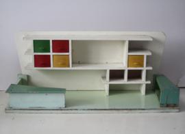 Houten kinderwinkeltje - handgemaakt ca 1950/60