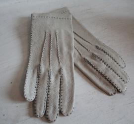 Handschoenen - Dent Fownes Wit met zwart stiksel