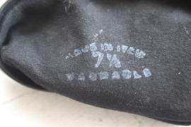 Zwart lederen handschoenen maat 7 1/2