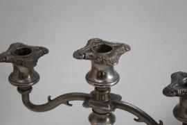 Kandelaars (meerarmig) - Victoriaanste stijl - Verzilverd