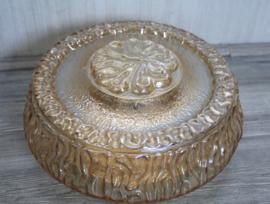 Vintage plafonniere - Amber met parelmoer