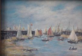 A. Hess ( 20e eeuw ) -  Schepen voor de kust