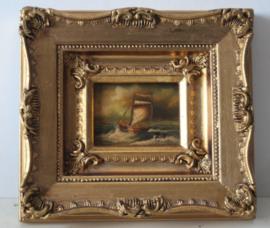 Rene Tempur - Maritiem schilderij van een vissers scheepje op zee