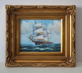 Maritiem schilderij - Driemaster op volle zee