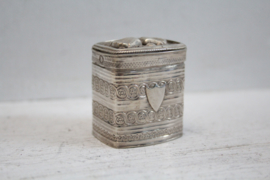 Zilveren loderijndoosje - 1850