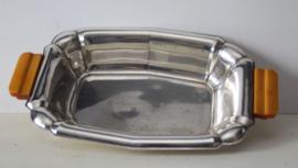Grote Art Deco silverplate serveerschaal, Wellner Duitsland, ca 1925