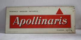 Apollinaris natural mineral water reclame bord