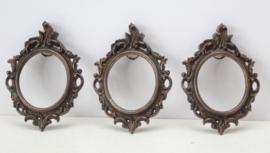 3 Italiaanse bronzen fotolijstjes