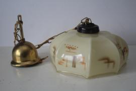 Jaren '30 Art Deco Opaline hanglamp