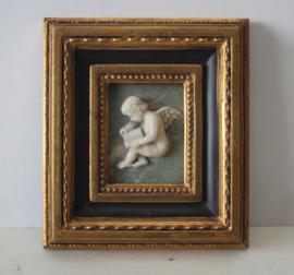 Albast putty in vergulde lijst - Biggs and Sons, Verenigd Koninkrijk