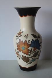 "Gouda Plateel Holland - Grote vaas ""Flora"" - design 984"