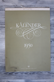 Originele Shell kalender 1950 - ongebruikt