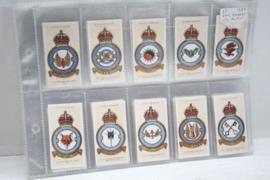 RAF badges, complete set (50 stuks) sigaretten kaarten