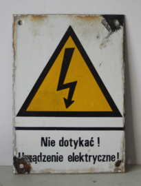 Emaille bord - nie dotykac!, Urzadzenie elektryczne! / Niet aanraken!, Elektrisch apparaat!