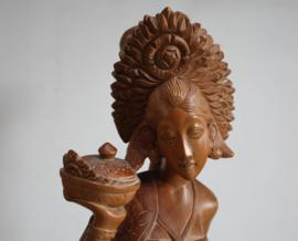 Bali Indonesië - Houten beeld van een dame