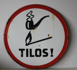 Rond Emaille bord: Roken en open vuur niet toegestaan! - Hongaars