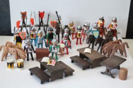 Vintage Playmobil - Grote partij ridders en toebehoren