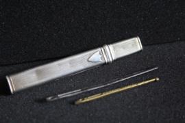 Zilveren Nederlandse naaldenkoker - 19e eeuws