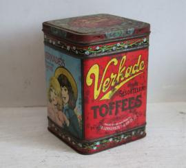 Vintage Verkade toffees blikje