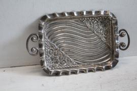 Zilveren schaaltje/dienblad (trinket dish) Sheffield 1909
