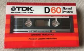 TDK D60 cassette bandje - nieuw in verpakking